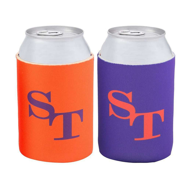 Reversible Gameday Can Caddie in Endzone Orange and Regal Purple by Southern Tide