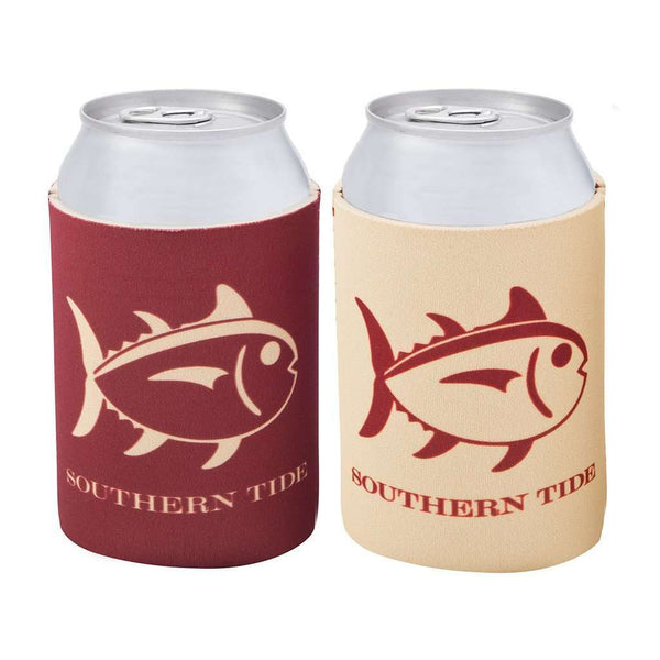 Can Holders - Reversible Gameday Can Caddie In Maroon And Gold By Southern Tide