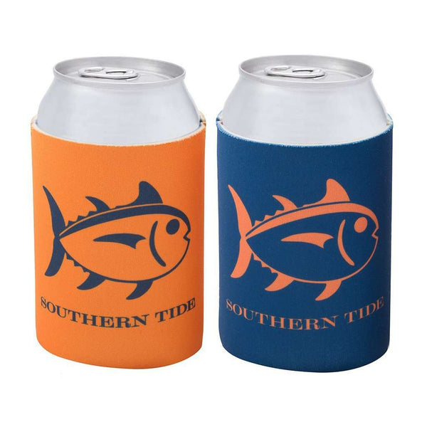 Reversible Gameday Can Caddie in Navy and Endzone Orange by Southern Tide