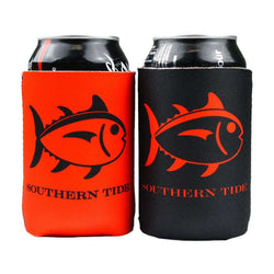 Can Holders - Reversible Gameday Can Caddie In Red/Black By Southern Tide
