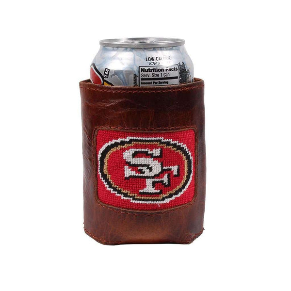 San Francisco 49ers Needlepoint Can Holder by Smathers & Branson