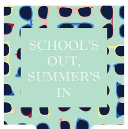 Can Holders - School's Out Summer's In Can Holder In Aqua By Southern Proper