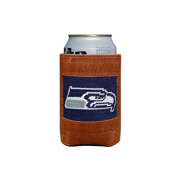Can Holders - Seattle Seahawks Needlepoint Can Holder By Smathers & Branson