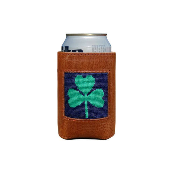 Shamrock Needlepoint Can Holder by Smathers & Branson