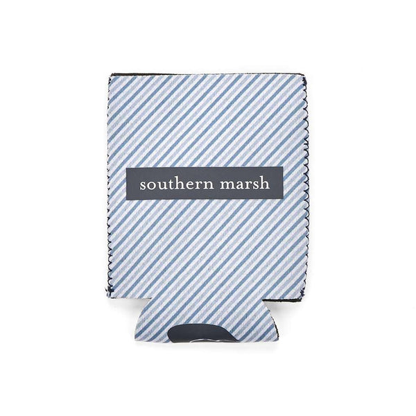 Can Holders - Signature Coozie In Blue Stripe With Navy By Southern Marsh