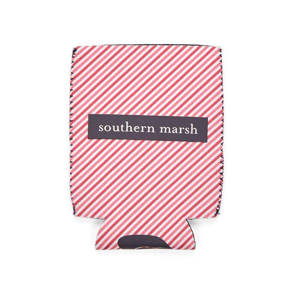 Can Holders - Signature Coozie In Pink Stripe With Navy By Southern Marsh