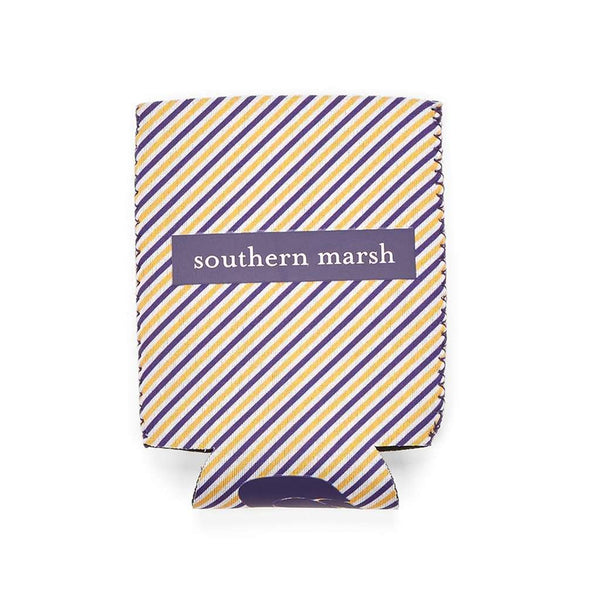 Can Holders - Signature Coozie In Purple Stripe With Gold By Southern Marsh