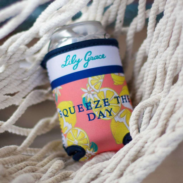 Squeeze the Day Can Holder by Lily Grace - FINAL SALE