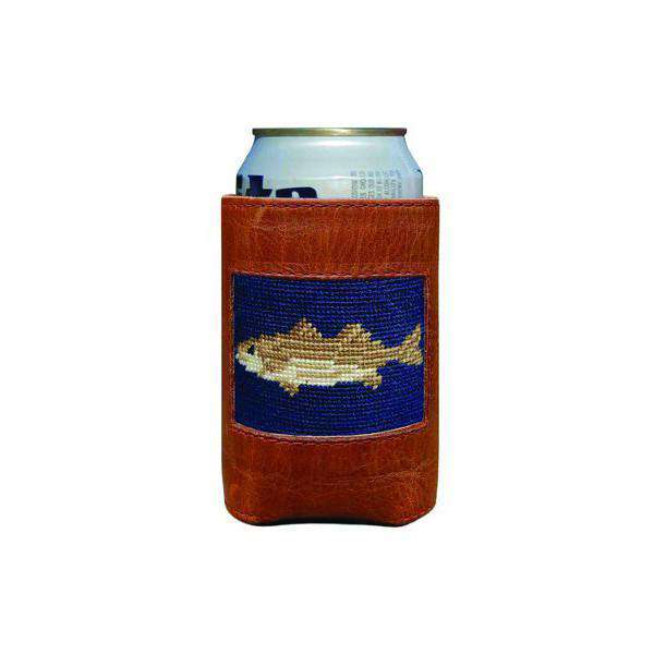 Can Holders - Striped Bass Needlepoint Can Holder By Smathers & Branson