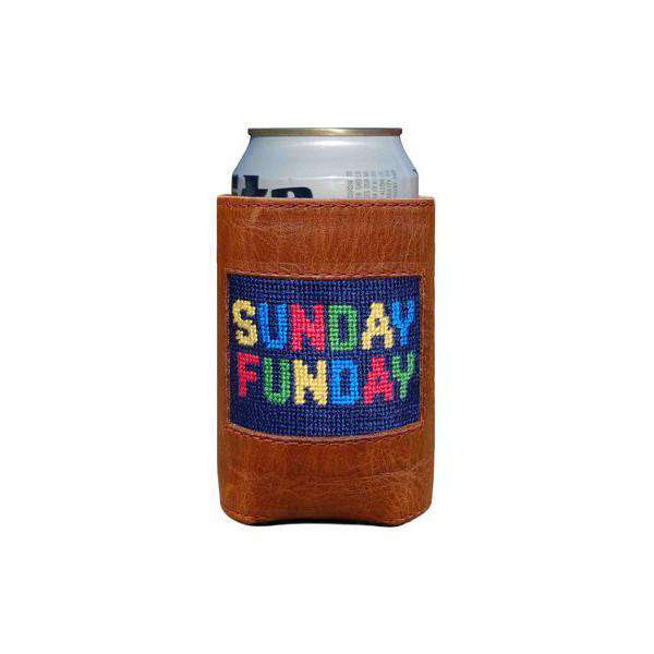 Sunday Funday Needlepoint Can Holder by Smathers & Branson