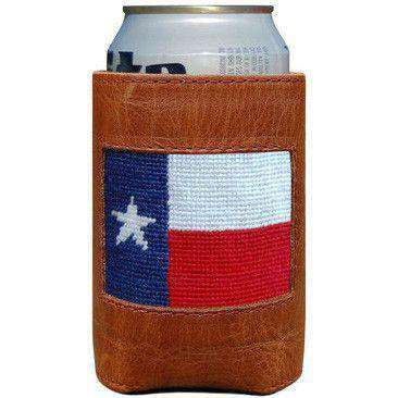 Can Holders - Texas Flag Needlepoint Can Holder By Smathers & Branson