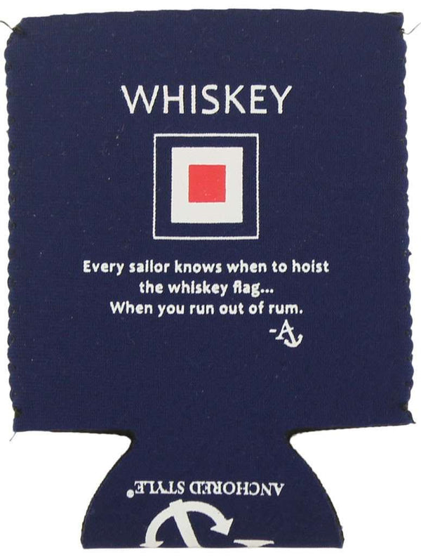 The Whiskey Flag Can Holder in Navy by Anchored Style - FINAL SALE