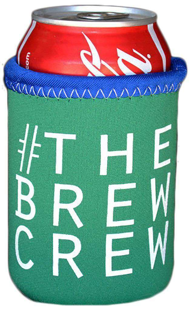 Can Holders - #TheBrewCrew Can Holder In Emerald Green By Brewer's Lantern