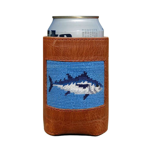 Can Holders - Tuna Needlepoint Can Cooler In Cornflower Blue By Smathers & Branson
