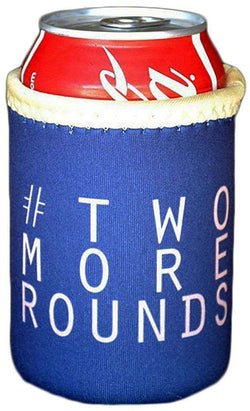 Can Holders - #TwoMoreRounds Can Holder In Navy By Brewer's Lantern - FINAL SALE