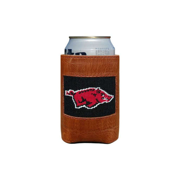 Can Holders - University Of Arkansas Needlepoint Can Holder By Smathers & Branson