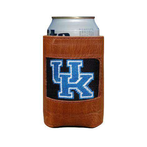 Can Holders - University Of Kentucky Needlepoint Can Holder In Black By Smathers & Branson