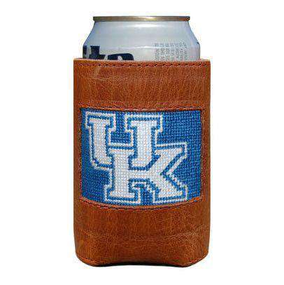 Can Holders - University Of Kentucky Needlepoint Can Holder In Royal By Smathers & Branson