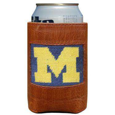 Can Holders - University Of Michigan Needlepoint Can Holder By Smathers & Branson