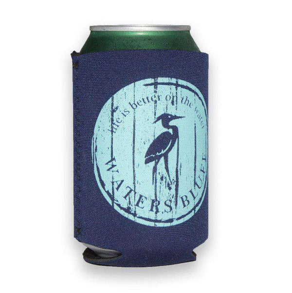 Can Holders - Wood Grain Can Holder In Navy By Waters Bluff