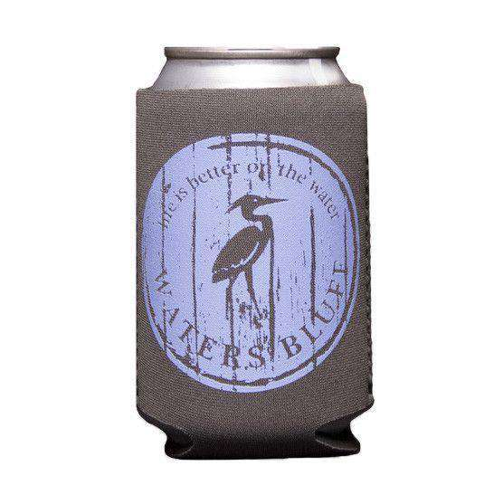 Can Holders - Wood Grain Can Holder In Slate Grey By Waters Bluff