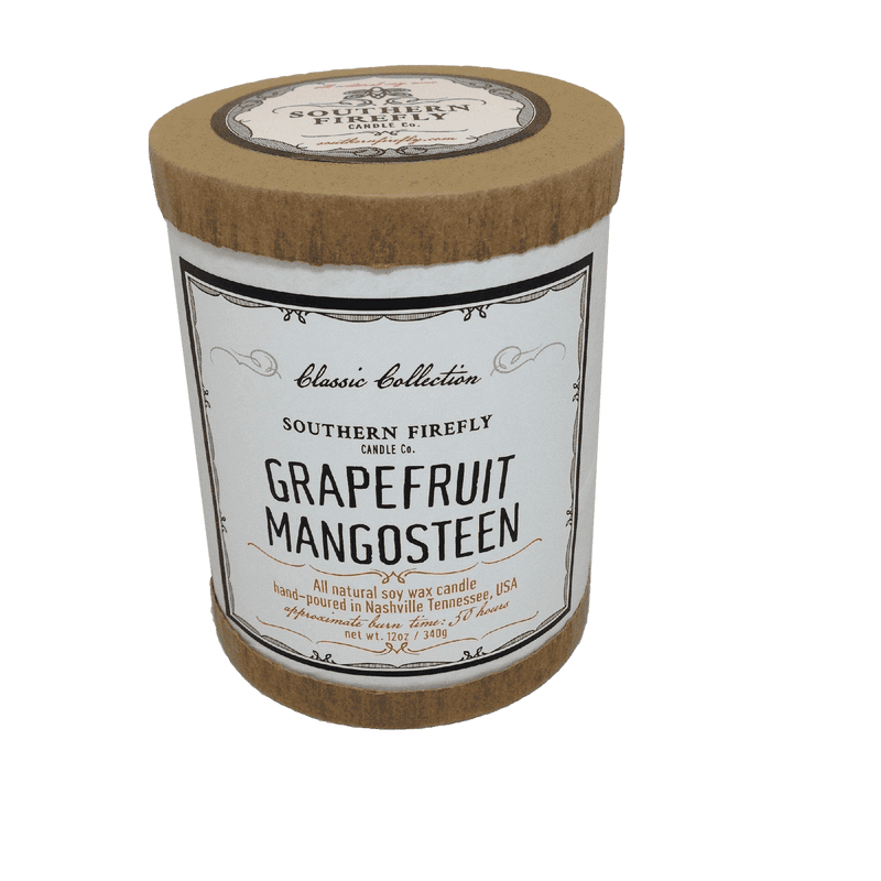 Candles - Classic Collection Soy Candle In Grapefruit Mangosteen Scent By Southern Firefly Candle Co.