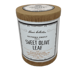 Candles - Classic Collection Soy Candle In Sweet Olive Leaf Scent By Southern Firefly Candle Co.