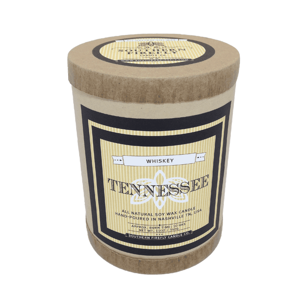 Tennessee Destination Series Soy Candle in Tennessee Whiskey Scent by Southern Firefly Candle Co.
