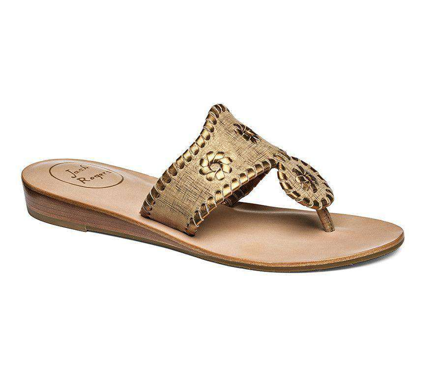 Capri Etched Sandal in Bronze by Jack Rogers
