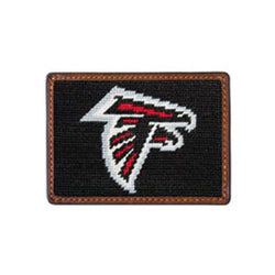 Atlanta Falcons Needlepoint Credit Card Wallet by Smathers & Branson