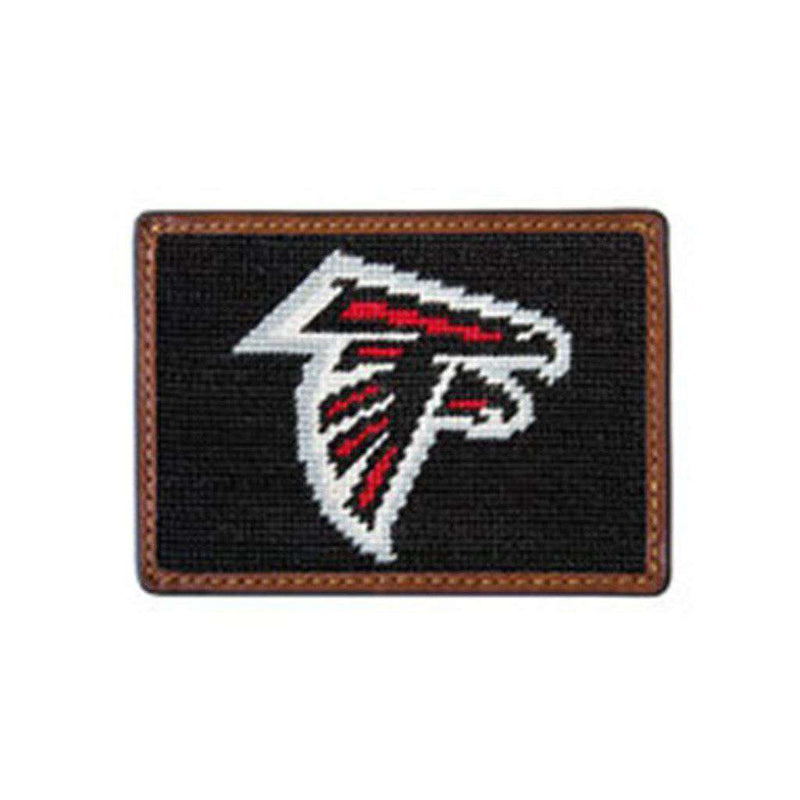 Card Wallets - Atlanta Falcons Needlepoint Credit Card Wallet By Smathers & Branson