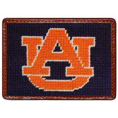 Card Wallets - Auburn University Credit Card Wallet In Navy By Smathers & Branson