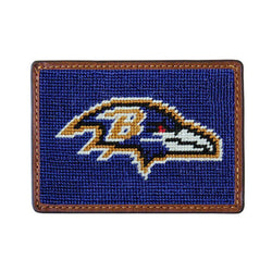 Card Wallets - Baltimore Ravens Needlepoint Credit Card Wallet By Smathers & Branson