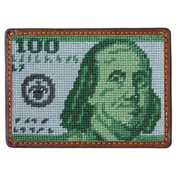 Card Wallets - Benjamin Needlepoint Credit Card Wallet By Smathers & Branson