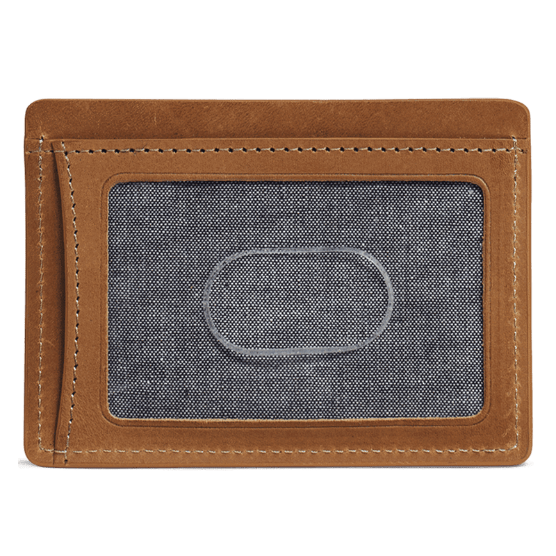 Billings Weekender Credit Card Wallet in Tan Steer by Trask