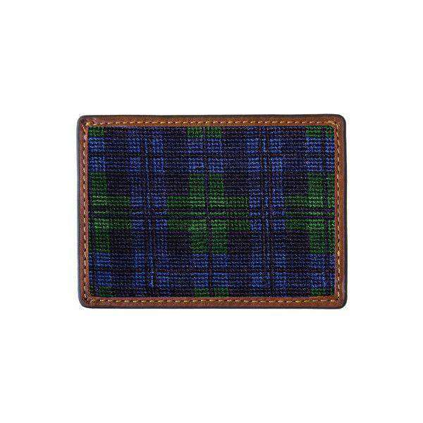 Card Wallets - Black Watch Needlepoint Credit Card Wallet By Smathers & Branson