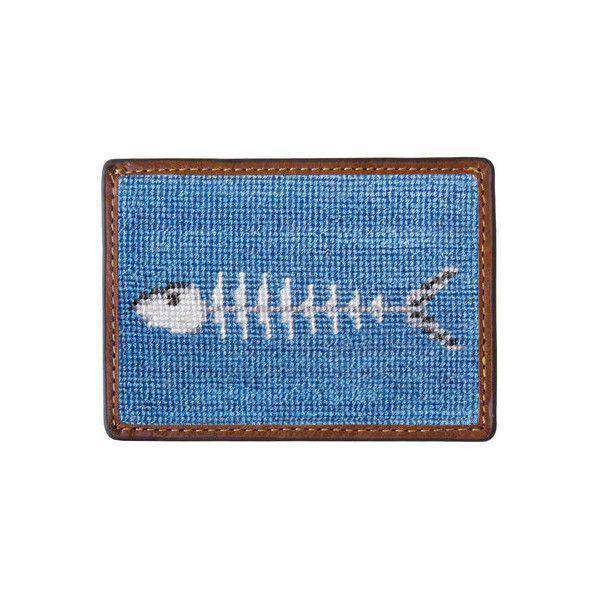 Card Wallets - Bonefish Needlepoint Credit Card Wallet In Stream Blue By Smathers & Branson