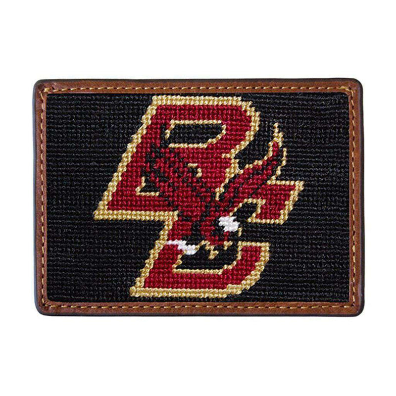 Card Wallets - Boston College Needlepoint Credit Card Wallet By Smathers & Branson
