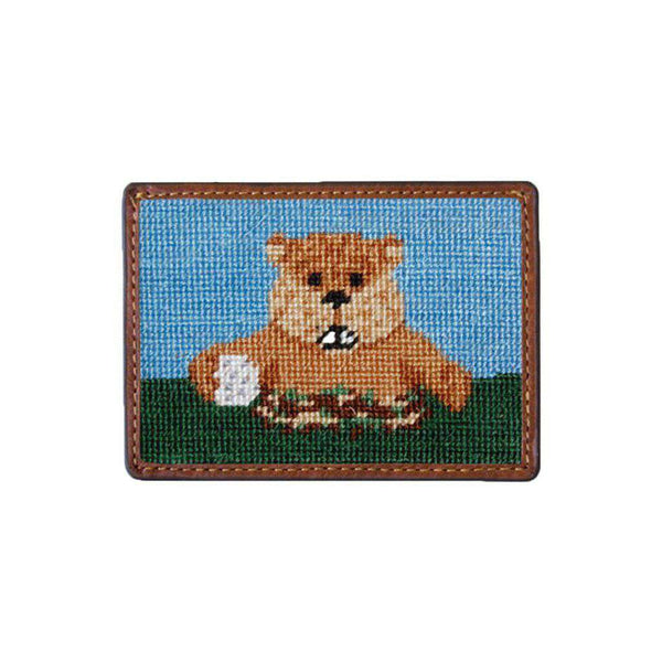 Card Wallets - Caddyshack Needlepoint Credit Card Wallet By Smathers & Branson