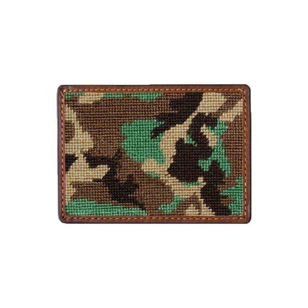 Camo Needlepoint Credit Card Wallet by Smathers & Branson