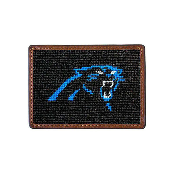 Card Wallets - Carolina Panthers Needlepoint Credit Card Wallet By Smathers & Branson