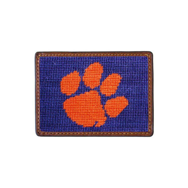 Card Wallets - Clemson University Needlepoint Credit Card Wallet By Smathers & Branson