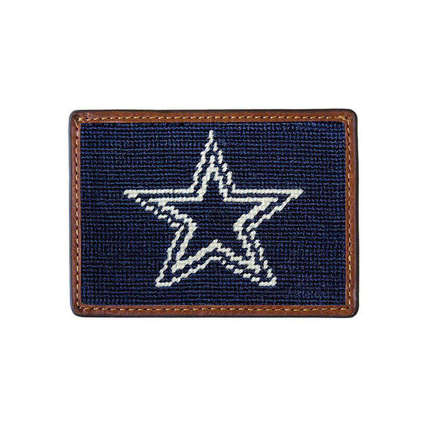 Card Wallets - Dallas Cowboys Needlepoint Credit Card Wallet By Smathers & Branson