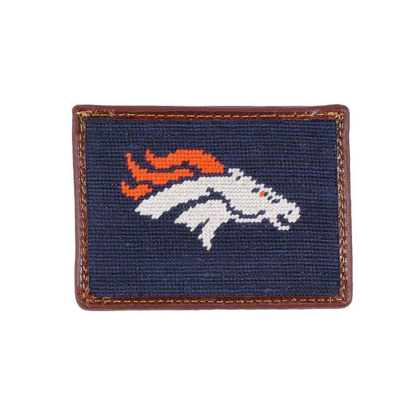 Card Wallets - Denver Broncos Needlepoint Credit Card Wallet By Smathers & Branson