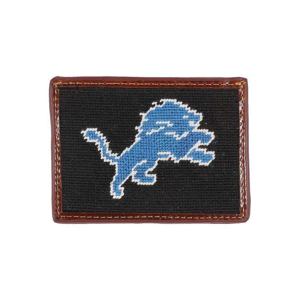 Card Wallets - Detroit Lions Needlepoint Credit Card Wallet By Smathers & Branson