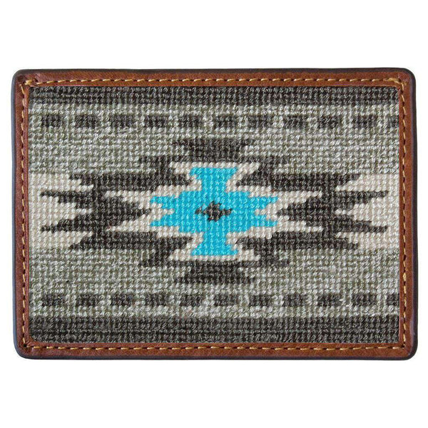 Card Wallets - El Paso Needlepoint Credit Card Wallet By Smathers & Branson