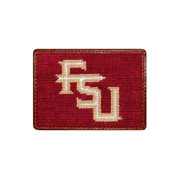 Card Wallets - Florida State University Needlepoint Credit Card Wallet By Smathers & Branson