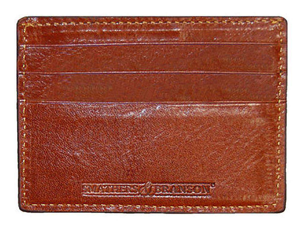 Gaucho Needlepoint Credit Card Wallet in Dark Khaki by Smathers & Branson