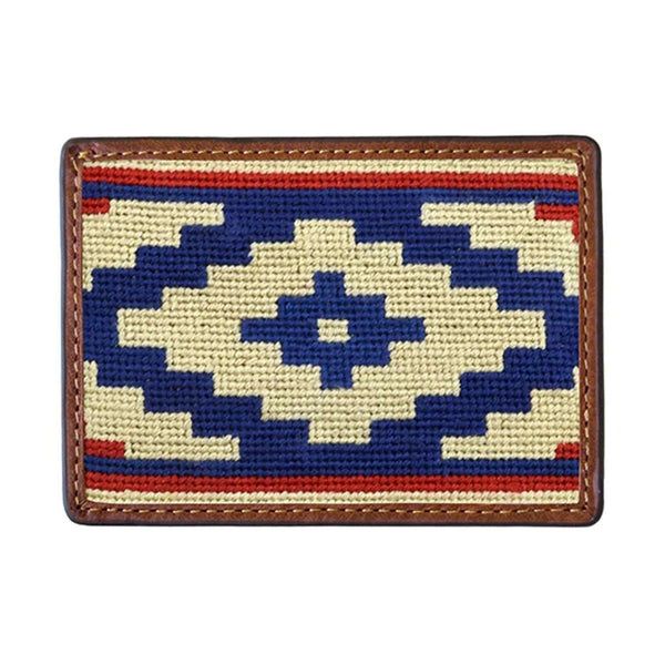 Card Wallets - Gaucho Rojo Needlepoint Credit Card Wallet By Smathers & Branson