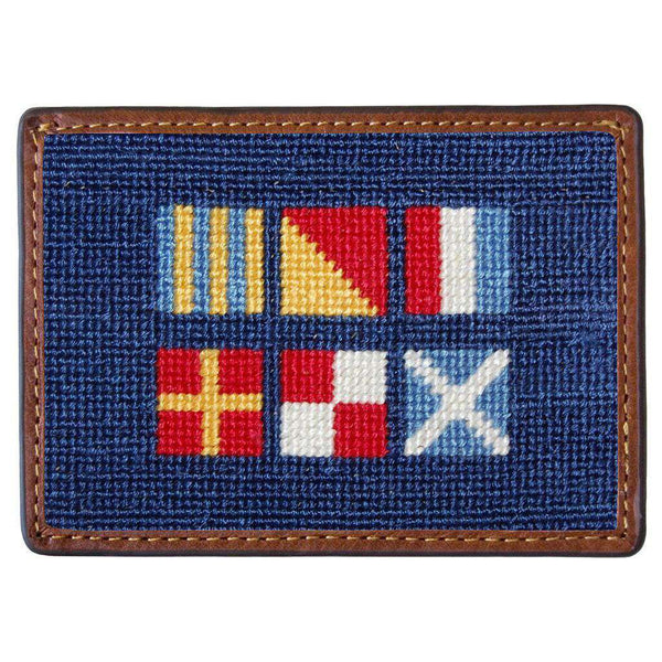 Got Rum Needlepoint Credit Card Wallet in Navy by Smathers & Branson